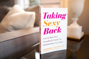 taking sexy back bibliotherapy blog post image, picture of book on a table